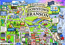 Downtown Branson Home - Map of missouri showing branson