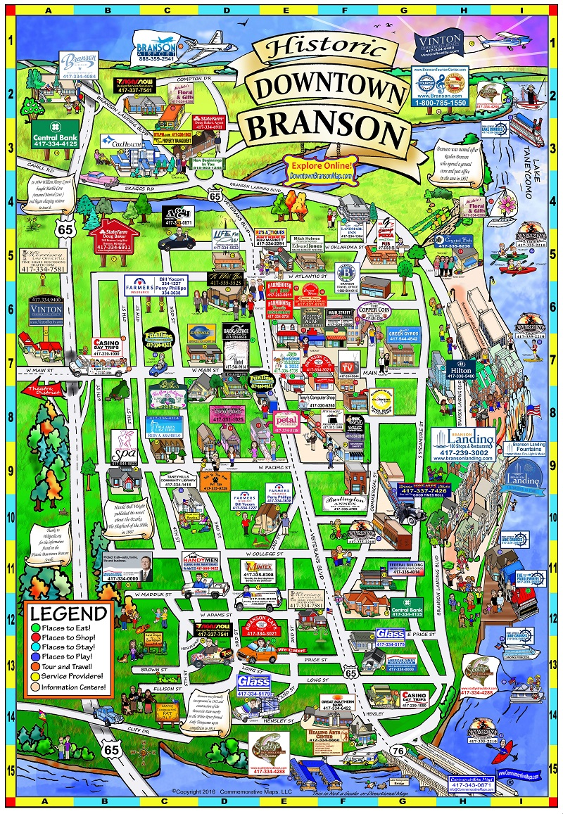 Downtown Branson Map